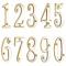 「真鍮切文字 数字(ナンバー)」