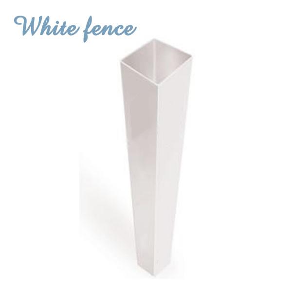 ホワイトフェンス 「ブランクポスト」4インチ