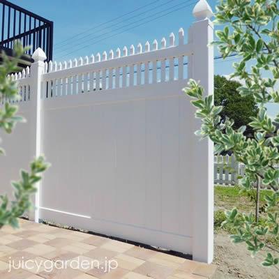 「ホワイトフェンス プライバシー2型」