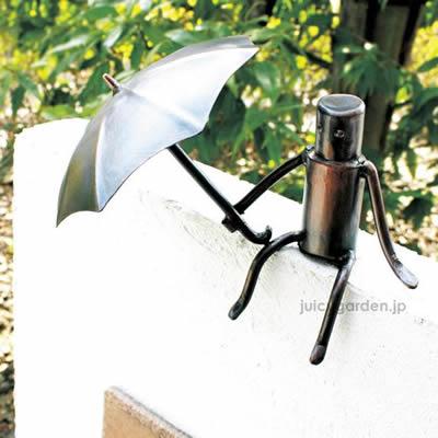 銅クラフトの装飾 森の番人 門柱の個性的なアイテム