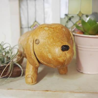 犬の置物 ガーデンオブジェ 「うちのわんこ ゴールデンレトリバー」