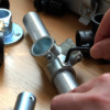 4mm六角レンチ対応 「DIY-ID パイプクランパー 3方面通し 直径25.4mmパイプ用」