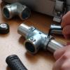 4mm六角レンチ対応 「DIY-ID パイプクランパー T型 直径25.4mmパイプ用」
