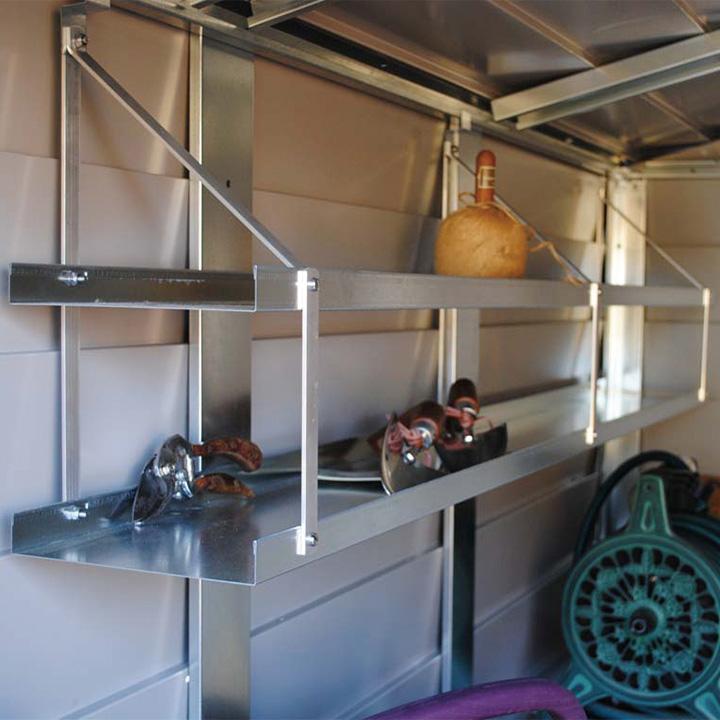 「メタルシェッドオプション 2段吊り棚」