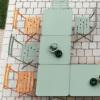 屋外用テーブル「Fermob ビストロ スクエアテーブル71H」