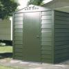 収納 シングルドア 屋外物置「メタルシェッド TM1 HF SD アペックスルーフ」