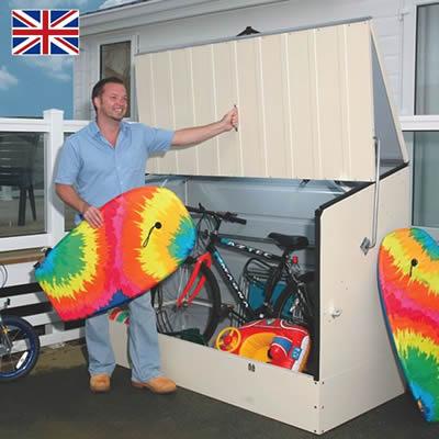 メタルシェッド自転車倉庫 スタンダードサイクル<大型・中型>クリーム色