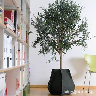 【植木鉢】「ファブリックプランターLサイズ」水量計付き。8〜11号に適応。