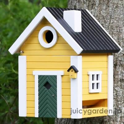 バードハウスマルチ3色 可愛いカラフルな木製の巣箱
