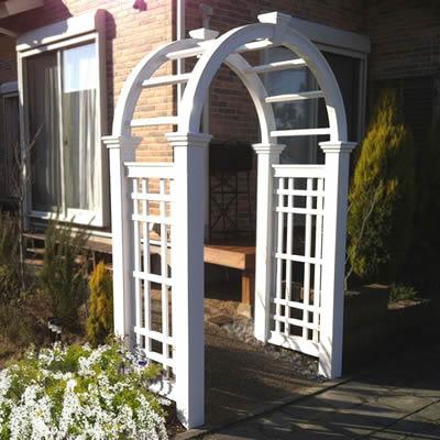 樹脂製ガーデンアーチ 「ホワイトフェンス シリーズ ルネサンスアーチ ※組立式」