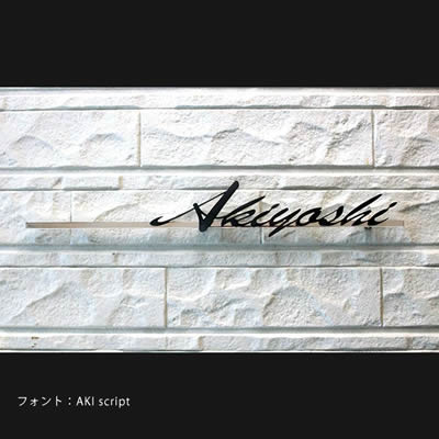ステンレス表札 「グラフィア Aタイプ」 【取り付け工事対応商品:区分A】