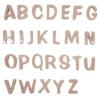 陶器の可愛い文字表札 「Puffy Sign パフィーサイン アルファベット ストロベリー(U〜Z)」