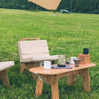 工具いらずの組み立て式ローテーブル 「ヨカ (YOKA) パネルファニチャーシリーズ PANEL LONG TABLE パネルロングテーブル」