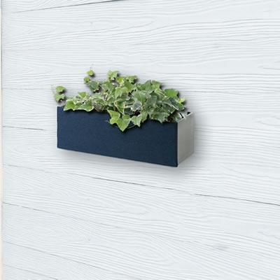 着せ替えできる壁掛けボックス 「プランターボックス ハコトコ(hacotoco) ロング W330×H110×D117mm」