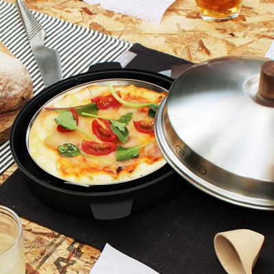 アウトドア用コンパクトピザ焼き器 「APELUCA (アペルカ) ピザオーブンポット」