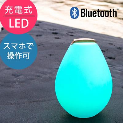 スマートフォンで操作可能な取っ手付きLED照明「スマートアンドグリーン (Smart & Green) 充電式LEDガーデンライト ベッセル2S(Vessel2S) Bluetooth仕様」
