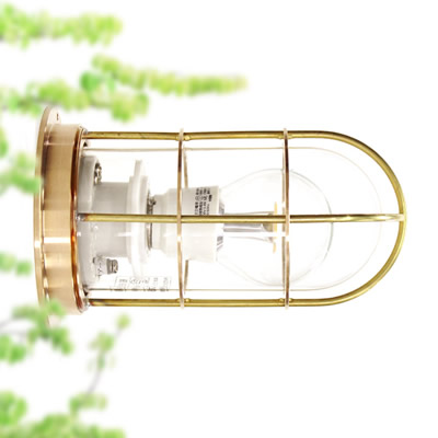 【マリンランプ LEDライト付】 R1号デッキライトゴールド
