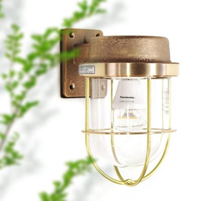【マリンランプ LEDライト付】 R1号フランジゴールド