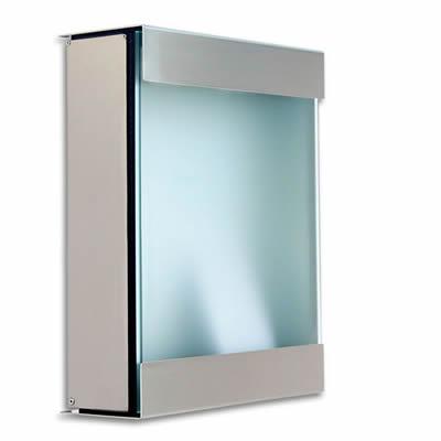 ドイツ製郵便ポスト 「カイルバッハ glasnost.glas.360 グラスノストグラス W360」 【取り付け工事対応商品:区分B】