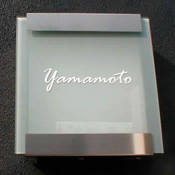 ドイツ製郵便ポスト 「カイルバッハ glasnost.glas.420 グラスノストグラス W420 (2011) 名入れオーダー付き」 【取り付け工事対応商品:区分B】