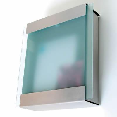 ドイツ製郵便ポスト  「カイルバッハ glasnost.glas.420 グラスノストグラス W420 (2011)」 【取り付け工事対応商品:区分B】