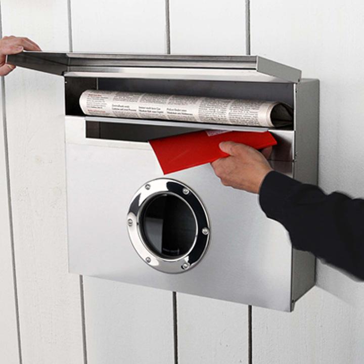ステンレス製 大型サイズ 郵便ポスト 「ラーディウスデザイン (RADIUS) レターマンXXL」 【取り付け工事対応商品:区分A】