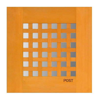 郵便ポスト 「D-POST ディーポスト 201 埋め込み ちどり格子」ステンレスBOX