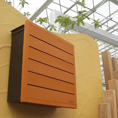 木のパネル 壁掛け 郵便ポスト 「D-POST ディーポスト 01」 【取り付け工事対応商品:区分A】