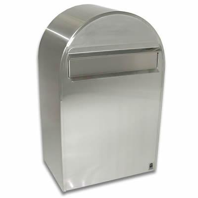 壁掛け郵便ポスト 「Bobi ボビ社製 郵便ポスト ボンボビ ステンレス (前入れ後出し)」