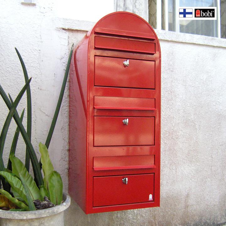 3世帯向け 「Bobi ボビ社製 郵便ポスト ボビトリオ (前入れ前出し)」