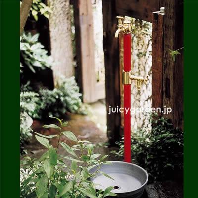 【レトロな立水栓】 「クラシック立水栓 双口 (蛇口2個付き)」