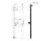 レトロな水栓柱「ジラーレW<ブラックブロンズ> 2口」上下専用蛇口付