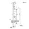 「ジラーレWスワンネック+手洗器セット (水栓柱+蛇口2個+手洗器)」