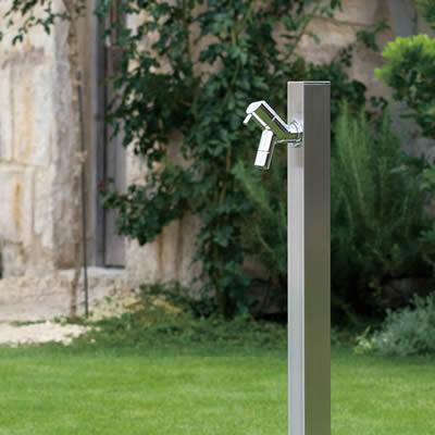 シンプルな水栓柱 アクアルージュ:ヘアライン 専用蛇口付き1口タイプ