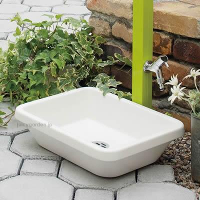 お庭のガーデンパン 「スクエアパン」 水鉢 水受け