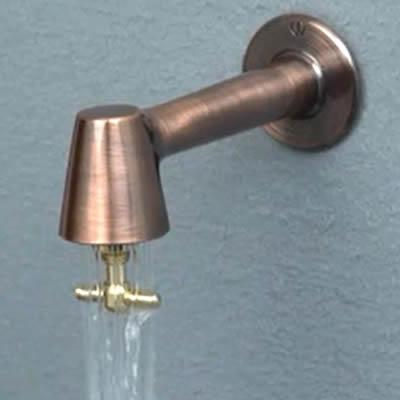 蛇口「衛生水栓 ブロンズ色」