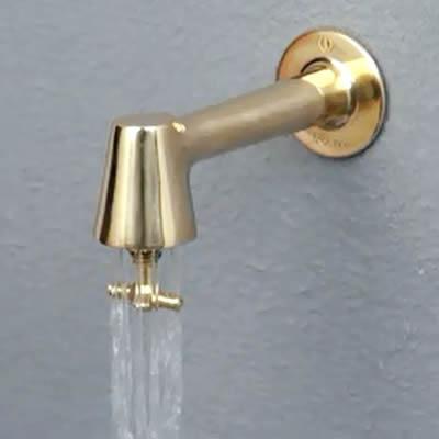 蛇口「衛生水栓 レトロ色:銅色」