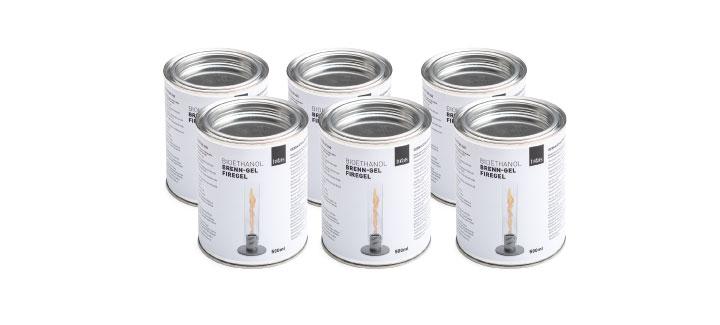 ランプ・ガーデントーチ燃料「ホーファッツ(hoefats) SPIN バイオエタノール缶 500ml(6本セット)」