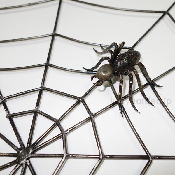アイアン製 クモの巣