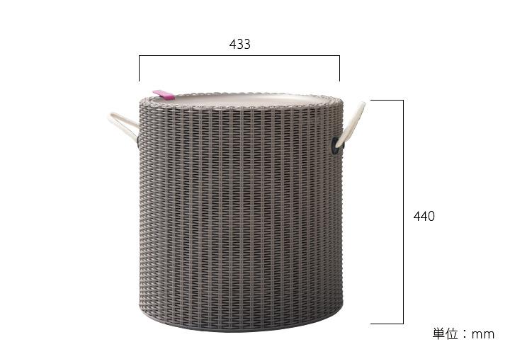 樹脂製ラタン調スツール「ケター クールスツール ロープ(COOL STOOL ROPE)」