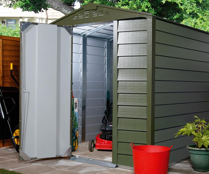 大型 シングルドア 屋外物置「メタルシェッド TM1 SD アペックスルーフ」
