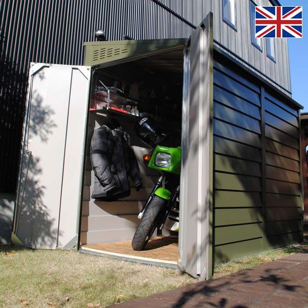 バイクガレージ・屋外物置 メタルシェッドTM2