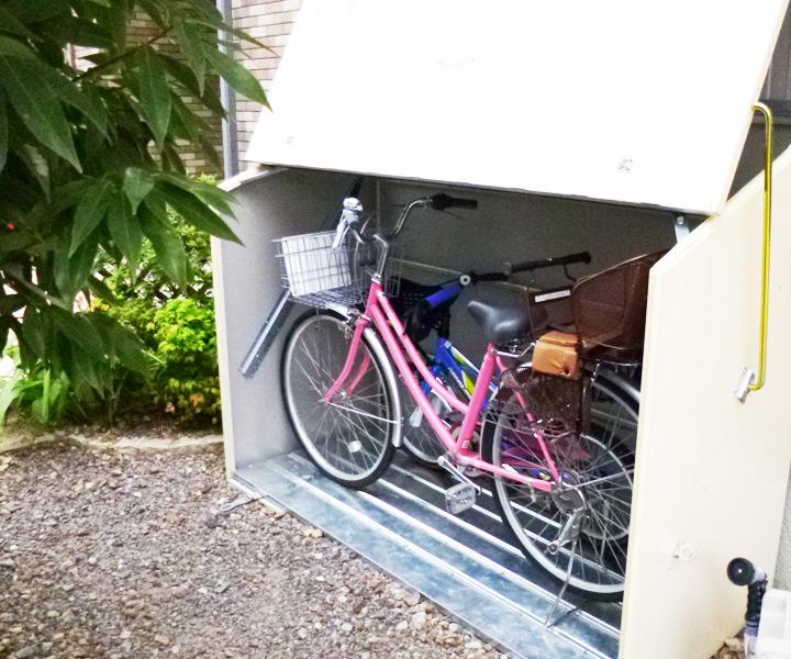 屋外物置・おしゃれ物置 「メタルシェッド自転車倉庫 TM3(大型・中型)」