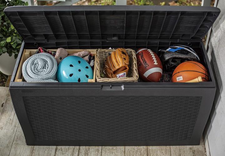 樹脂製収納BOX「ケター (KETER) サモア ガーデンボックス 270L (SAMOA 70G)」
