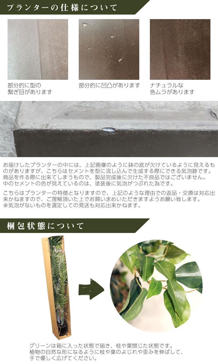 グリーン×プランターセット「w/g ファイカス×Tall Round」[高さ190cm・人工樹木・人工観葉植物]