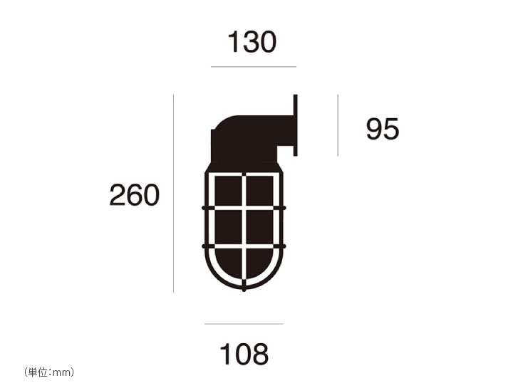 マリンランプ LED電球付「アートワークスタジオ(ARTWORKSTUDIO) ビーチハウス ウォールランプ(Beach house-wall lamp) コードなし/屋内・屋外兼用」