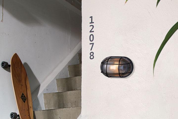 マリンランプ LED電球付「アートワークスタジオ(ARTWORKSTUDIO) ネイビーベース オーバルウォールランプ(Navy base-oval wall lamp) コードなし/屋内・屋外兼用」