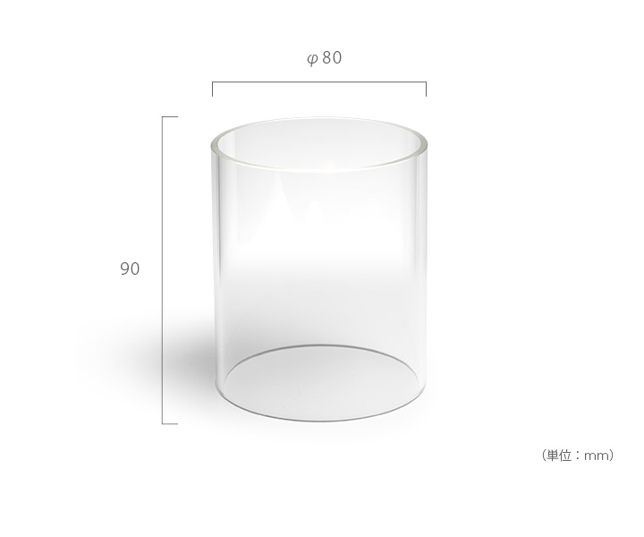 「hoefats GRAVITY CANDLE REPLACEMENT Glass グラビティキャンドル リプレイスメント ガラス」