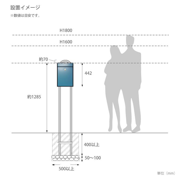 本体別売 「フューネン GF(Funen GF)ポスト用スタンド1007 U型」