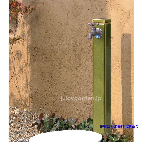 陶器の立水栓 角